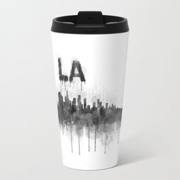 Los Angeles City Skyline HQ v5 BW Travel Mug
