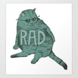 Rad Cat Art Print
