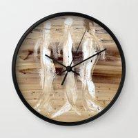 spiritual Wall Clocks featuring Spiritual Encounters by Nut Houch Art