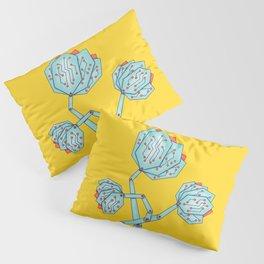 Electronic Flowers Circuit Board Petals Pillow Sham