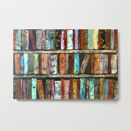 Carnival colors abstract library Metal Print
