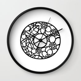 Letter O Wall Clock