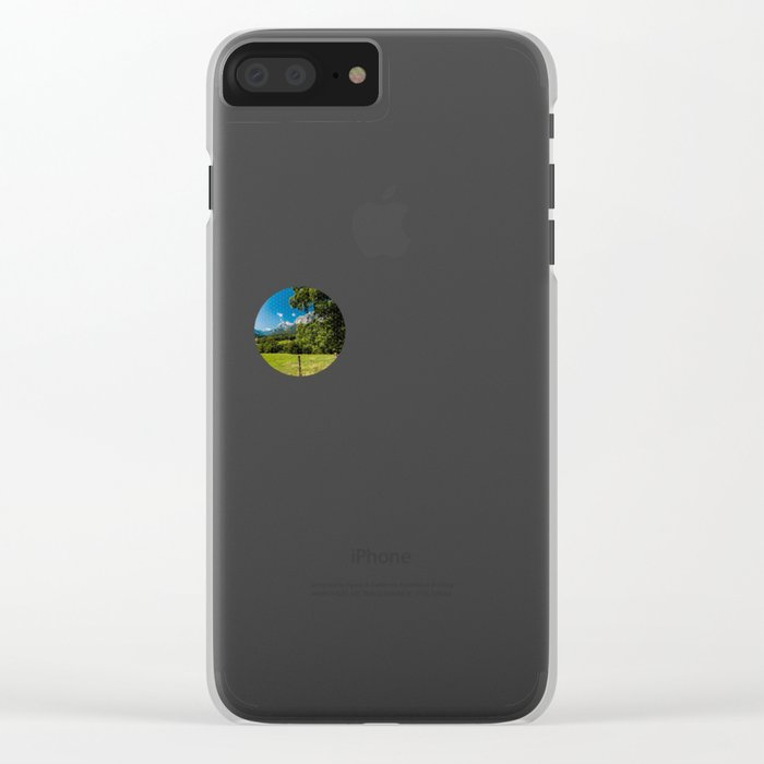 Summerday in the mountains #Society6 Clear iPhone Case