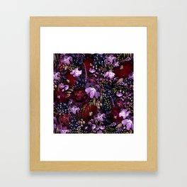 Deep Floral Chaos Framed Art Print