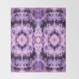 Celestial Nouveau Tie-Dye Plum Throw Blanket