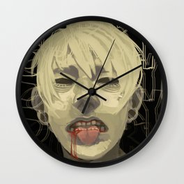 Cut on the Dotted Line Wall Clock