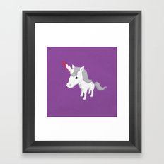 Accidental Legends: Unicorn Framed Art Print