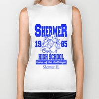 the breakfast club Biker Tanks featuring The Breakfast Club  |  Shermer High School Logo  |  John Hughes Universe by Silvio Ledbetter