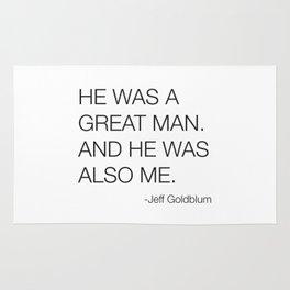 Jeff Goldblum Great Man Quote Rug