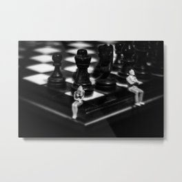 Make a Move Already from the Game of Life Series Chess Metal Print