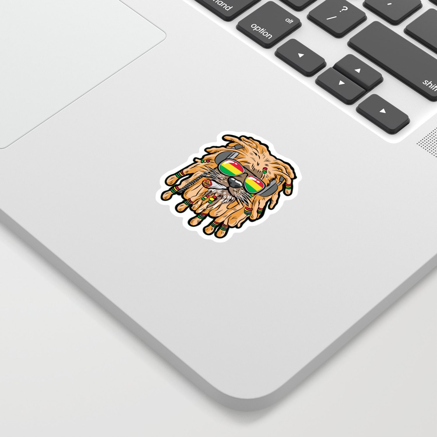Rasta Lion Joint Smoking Weed 420 Ganja Pot Hash Sticker By Moonpie90 Society6