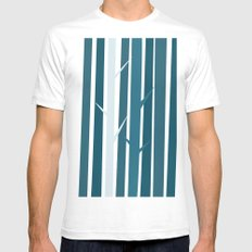 Blue Wood Mens Fitted Tee White SMALL