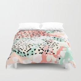 Phoebe - abstract painting minimal gender neutral trendy nursery decor home office art Duvet Cover