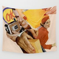 cheese Wall Tapestries featuring Say Cheese! by Lerson