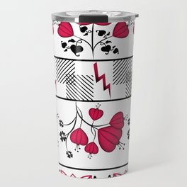 floral striped pattern Travel Mug