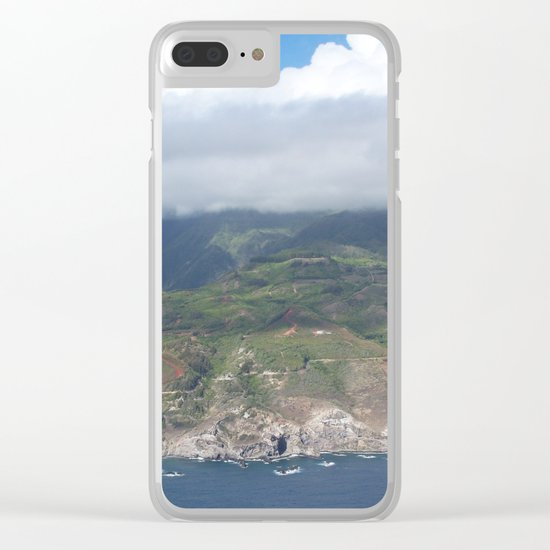 Flying over Hawaii Clear iPhone Case