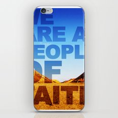 WE ARE A PEOPLE OF FAITH (Hebrews 11) iPhone & iPod Skin
