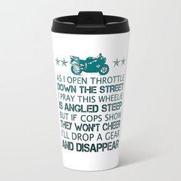 BIKER'S POEM Travel Mug
