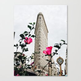 Pink Flowers in New York City (Color) Canvas Print
