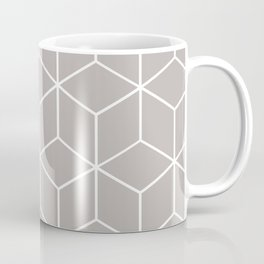 Cube Geometric 03 Grey Coffee Mug