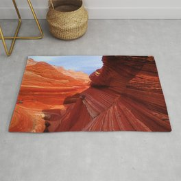 Spectacular Red Rock Canyons & Blue Sky: The Wave Rug