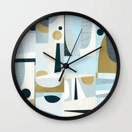 Idle Moments Abstract Art Wall Clock