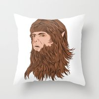 teen wolf Throw Pillows featuring Teen Wolf by Joseph Botcherby