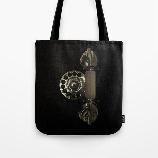 Old rotary dial phone Tote Bag