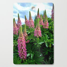 Rose Lupins in the Garden Cutting Board