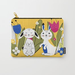 Spring with rabbits Carry-All Pouch