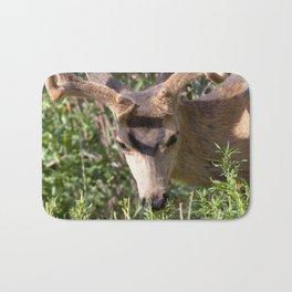 Watercolor Deer, Mule 17, Estes Park, Colorado, The Nibbler Bath Mat