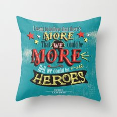 Vicious by V.E.Schwab - We Could Be Heroes Throw Pillow
