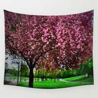 cherry Wall Tapestries featuring cherry by LeicaCologne Germany