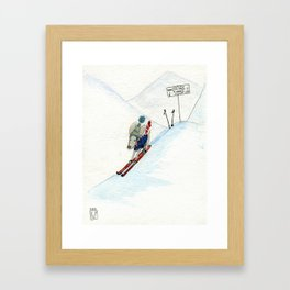 Winter Thrills Framed Art Print