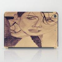 katniss iPad Cases featuring Katniss Everdeen by KOverbee