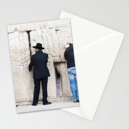 Prayer at the wall Stationery Cards