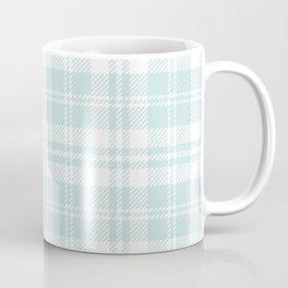 Cozy Plaid in Mint Coffee Mug