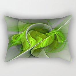 Abstract Green Fractal Art Rectangular Pillow