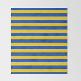 Asturias Sweden Ukraine European Union flag stripes Throw Blanket