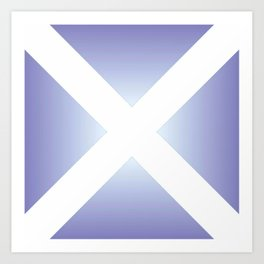 flag of scotland - with color gradient Art Print