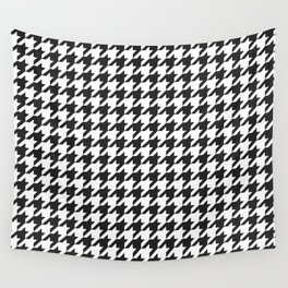 Black and white houndstooth pattern Wall Tapestry