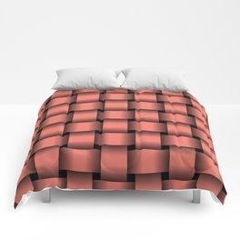 Large Salmon Pink Weave Comforters