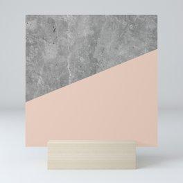 Simply Concrete Blush Pink Mini Art Print