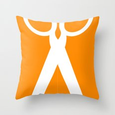 Running with scissors Throw Pillow