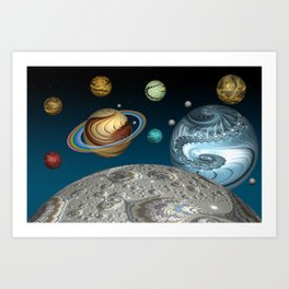 To The Moon And Beyond Art Print