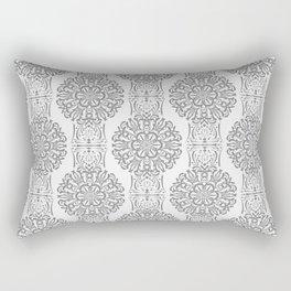 Gray white Damask ornament . Rectangular Pillow
