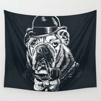 gentleman Wall Tapestries featuring English Gentleman by Kellabell9