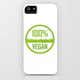 100 percent Vegan iPhone Case