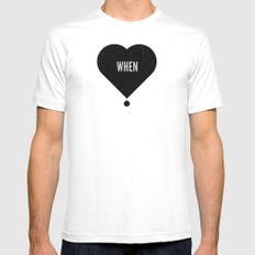 When White Mens Fitted Tee MEDIUM