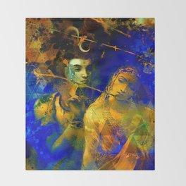 Shiva The Auspicious One - The Hindu God Throw Blanket